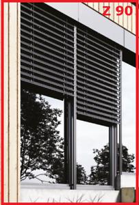Raffstore Aussenjalousie Z90 nach Maß 120 x 150 Jalousie Elektro ( Sonnenschutz)