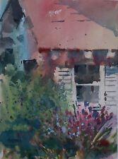 """SUMMER GARDEN""  original watercolor by American artist Micheal Jones"