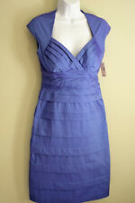 $60 NWT COLLECTION dress Womens Ladies Size 6 stretch Blue Purple SLIMMING PARTY