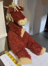 Jellycat Red Brown Velvet Mane Bunglie Horse Pony stuffed animal plush