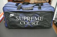 Vintage 90s Large NIKE Supreme Court Duffle Bag Gym Purple Black Swoosh Gray Tag