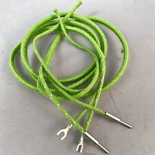 Antique Vintage Cloth Covered Receiver Cord - Green - Pin - Spade - SKU - 30007