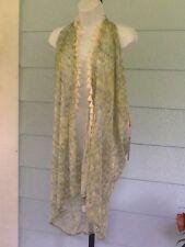 FORCYNTHIA Beachwear Mesh Swim Cover-up Tunic Fringes Green Size L/XL NWT$68