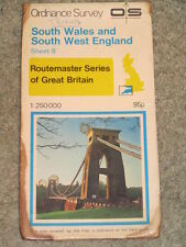 OS Ordnance Survey Routemaster 8 Map 1:250,000 SW England & South Wales