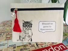 Cat Zip-up Pouch, Make-up Bag, Pencil Case, Bits N Bobs Bag **HANDMADE**
