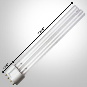 2pc Replacement Bulb 18W Watt UV Lamp 2G11 Base Pond Filter Aquarium Sterilizers