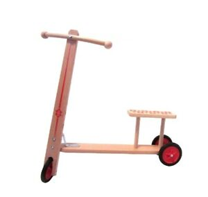 Wooden Toy Wooden Roller With Bench L/H 62cm/63cm New Scooter Wood