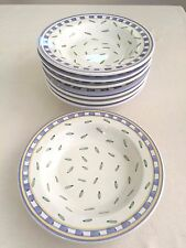 SET OF 8 WILLIAMS SONOMA MADE IN ITALY TOURNESOL POTTERY SOUP / PASTA BOWLS