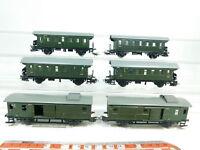 BJ395-1# 6x Märklin H0/AC Blech-Personenwagen/Gepäckwagen: 4002 + 4003