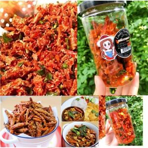 Sesame Fried Chili Snacks Thai Crispy Delicious and playable less spicy 60 g