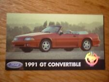 ★★1991 MUSTANG GT CONVERTIBLE OFFICIAL FORD PHOTO MAGNET 91 93 92 90 89 88 87★★