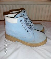 MX2 Blue Real Suede ankle boots Size UK 7 EU 40