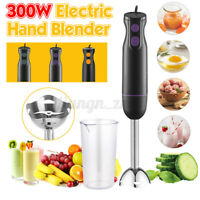 Healthy Choice 300W Electric Hand Stick Blender Food Chopper Mixer Beater 3 IN