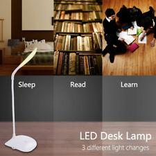 Lampada da Tavolo Scrivania 14 LED ricaricabile A 360 Flessibile USB Bianco