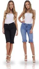 Ladies Denim Summer Holiday Womens Stretch Pockets Shorts