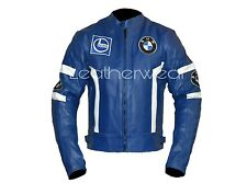 BMW Motorcycle Bikers Genuine Leather Jacket CE Approved Full Protection