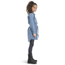 Vingino Niñas Vestido de Jeans Vestido Manga Larga Piranka Denim Azul Gr.128-176