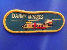 DANNY MOORES HELICOPTER PATCH VINTAGE COLLECTOR BADGE