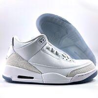 Nike Air Jordan 3 III Retro Pure White Triple White 136064-111 Men's 8.5