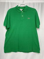 LACOSTE Mens Green 100 Cotton Croc Logo Short Sleeve Golf Polo Shirt Size 5