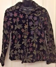 Carol Anderson Collections Black Tapestry Cropped Jacket S