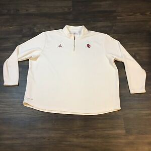 Nike Jordan Men's OU University Oklahoma Sooners Football hoodie white 4XL XXXXL