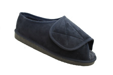 Mens Ladies Very Wide Fitting  Memory Foam Open Toe Slippers Size 3 - 12
