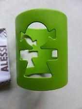 ALESSI KK10 W Girotondo - Serviettenring (Frau/Mädchen) Stahl lackiert grün Neuw