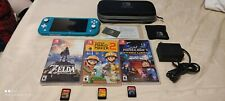 Nintendo Switch Lite Handheld Console - Turquoise, Includes Extras