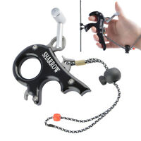 Compound Bow Release Aids 3 4 Finger Thumb Trigger Grip Caliper Archery Hunting