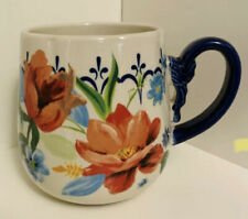 The Pioneer Woman Stonewear 19 Oz Red Cobalt Spring Bouquet Floral Coffee Mug
