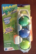New NEW Nerf HASBRO TOY KOOSH Galaxy 3 BALL Belt CLIP attaches 2 Koosh Blaster