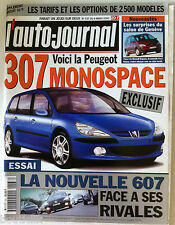 L'AUTO-JOURNAL du 9/03/2000; La 307 Monospace/ Salon de Genève/ Nouvelle 607
