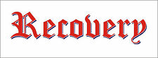 'RECOVERY' RED/BLUE 1M TRUCK LORRY GRAPHICS DECALS STICKERS VAN