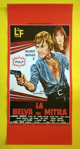 Locandina Cinematografica(Riproduzione) Film LA BELVA COL MITRA no dvd vhs lp cd