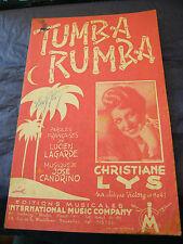Partition Tumba Rumba Christiane Lys 1947 Music Sheet