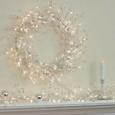 GE Glitter Gem Garland Clear Bright Indoor, Christmas Holiday - 100 Lights 9 FT