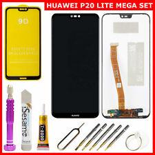 HUAWEI P20 LITE KOMPLETTES DISPLAY LCD TOUCHSCREEN ANE-L02 MEGA SET ● SCHWARZ