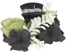 Black FLOWER Retro BLÜTEN Pin Up Haarklammer - 1 Stück Rockabilly