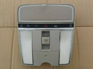 2007 - 2010 Mercedes W221 S550 Overhead Dome Light Sunroof Control Gray