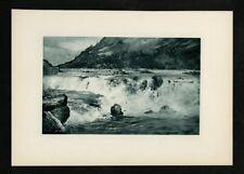 Original Print - John Muir - Picturesque California - Falls of Pitt River - Geor