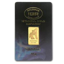10 gram Gold Bar - Istanbul Gold Refinery Trojan Horse (In Assay) - SKU #78366