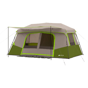 NEW Ozark Trail 11-Person Instant Cabin Tent with Private Room Camping Family Ra