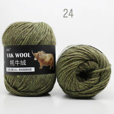 Sale 100g Natural Crochet woven yak wool cashmere Hand Knitting Yarn 33 colors