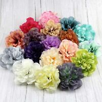 10/50Pc 11cm Artificial Peony Silk Carnation Flower Heads DIY Fake Bouquet Decor
