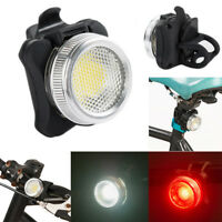 USB Rechargeable Cycling Bicycle Bike COB LED Head Front Rear Tail Light Lamp