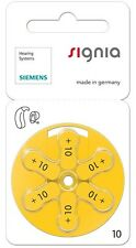 Siemens Taglia 10 Mercury Free Apparecchio acustico Batterie x60 celle (Nuovo Imballaggio)