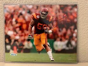 Rey Maualuga Signed USC Trojans 8x10 Photo Upper Deck
