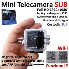 MINI TELECAMERA SPORT SPIA SQ13 1080 WIFI SUBAQUEA SENSORE MOVIMENTO ANDROID IOS