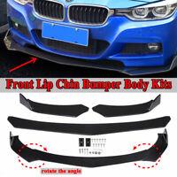 Front Bumper Lip Body Kit Spoiler For BMW F10 F11 F30 F31 E90 E91 M3 M4 M Sport
